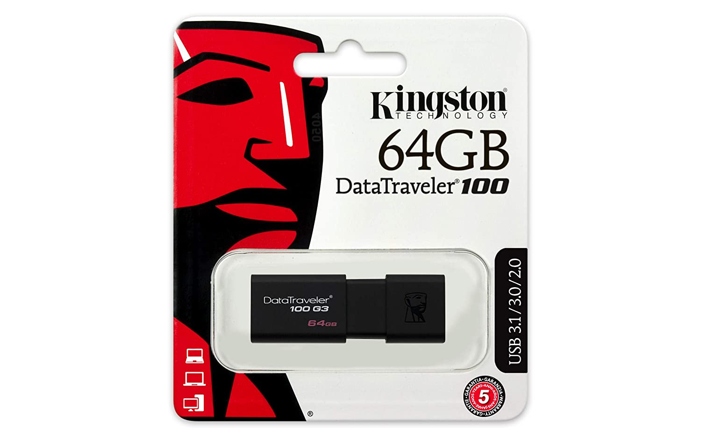 USB 3.0 3.1 Flash Drive 32 GB Kingston DT100G3//32GB DataTraveler 100 G3 schwarz