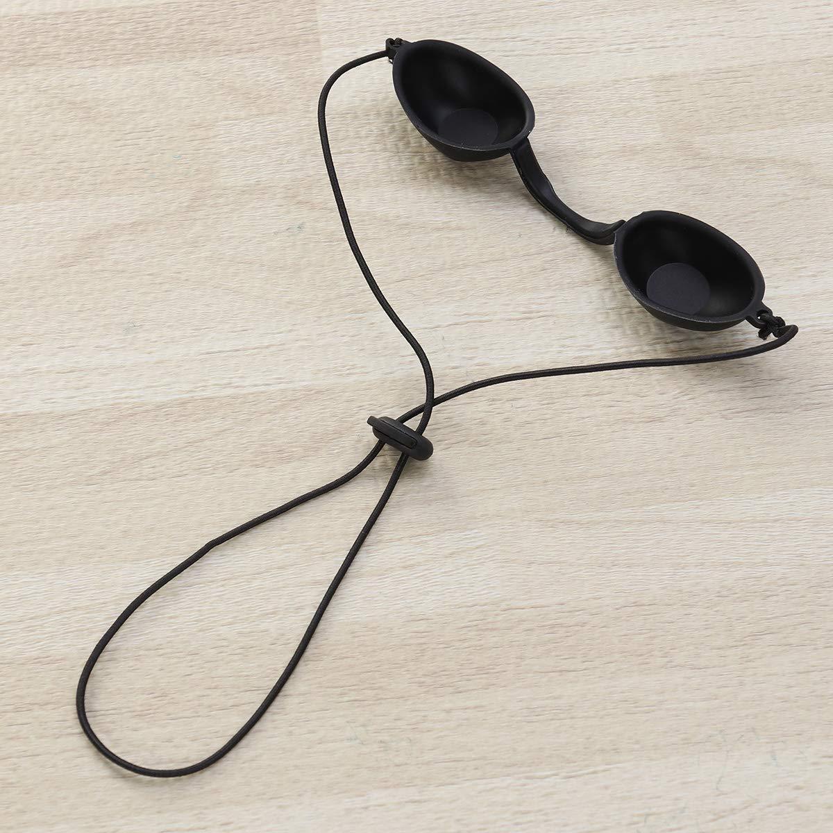 Healifty Haarentfernung Brille Augenshcutz IPL Brille f/ür Patienten in IP-Infrarot-LED-Lichttherapie Sonnenbade Schwarz