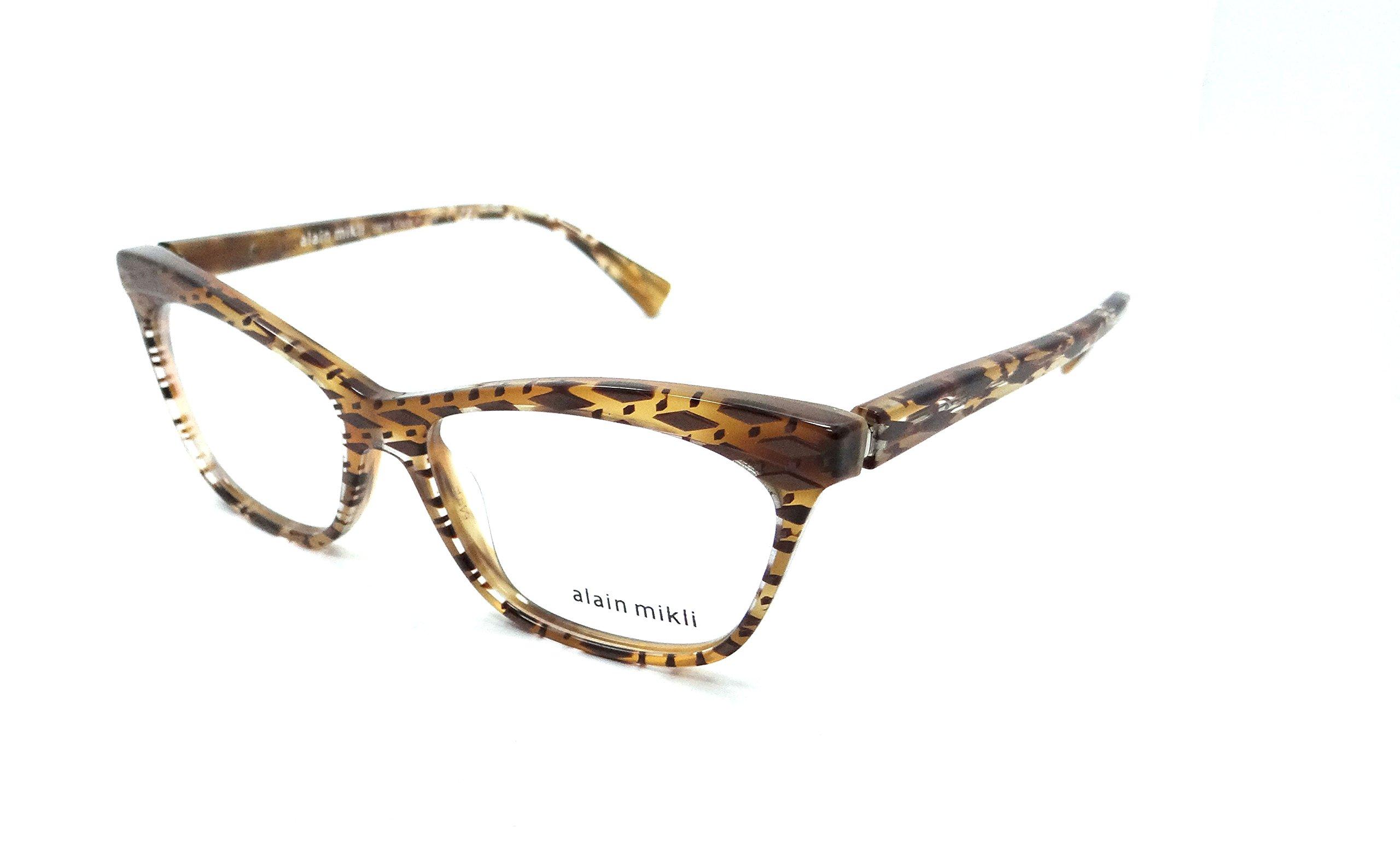 Alain Mikli Rx Eyeglasses Frames A03059 B0H2 54x15 Top Diamond Havana Italy
