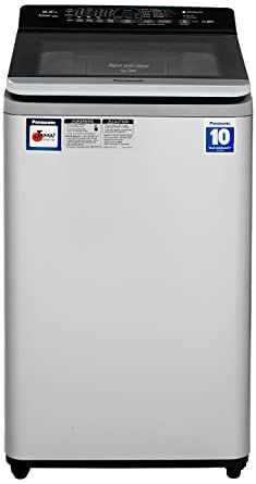 Panasonic 6.5 kg Fully-Automatic Top Loading Washing Machine (NA-F65V7LRB, Silver) Washing Machines & Dryers at amazon