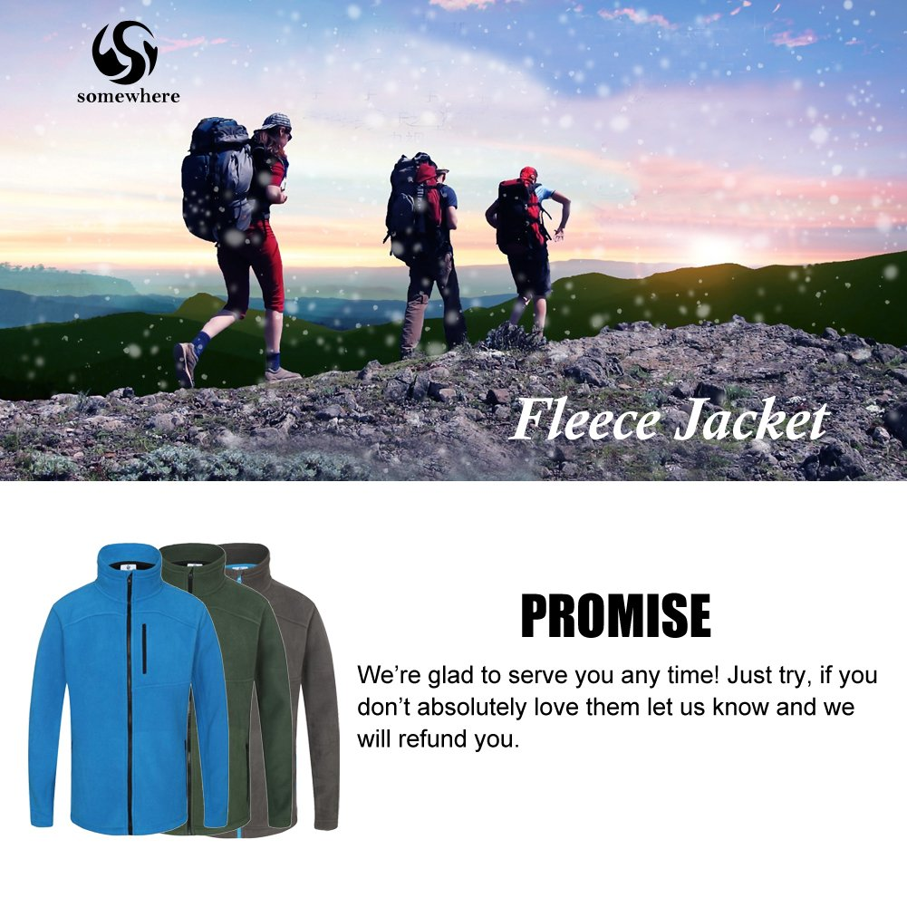 Somewhere Men's Full-Zip Fleece Composite Colors Autumn/Winter Essential Slim-Fitting Jacket(XXL) by Somewhere (Image #2)