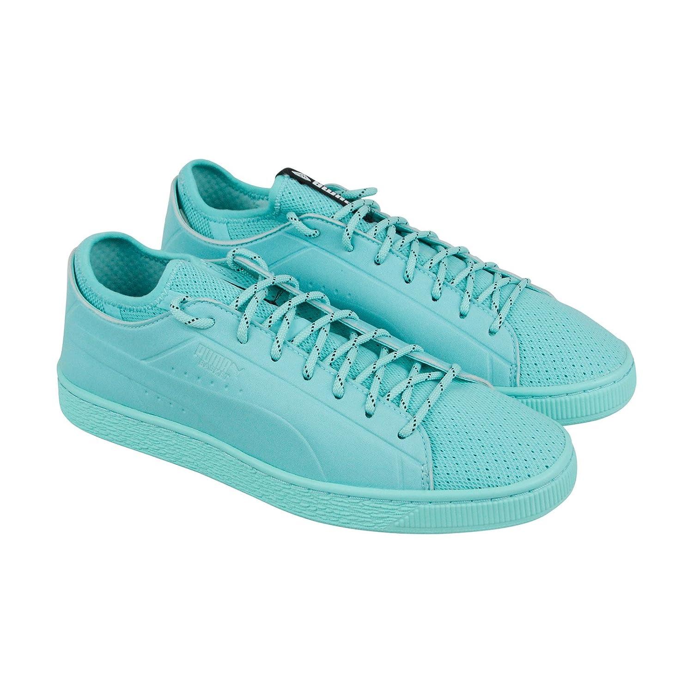 efc5baab41 Amazon.com | PUMA X Diamond Basket Sock Lo Mens Blue Textile Lace Up ...