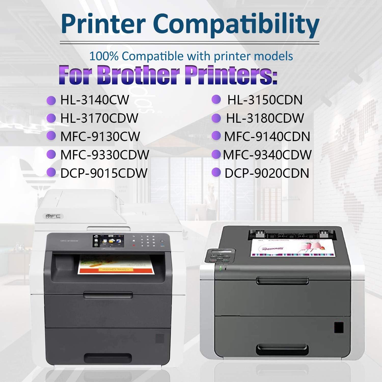 1BK+1C+1M+1Y 4 Pack TN-221 Compatible Toner Cartridge Replacement for Brother HL-3140CW HL-3180CDW HL-3170CDW HL-3150CDN MFC-9130CW MFC-9140CDN MFC-9330CDW DCP-9015CDW Printer,by SinaToner.