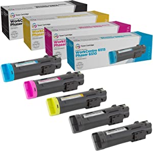 LD Compatible Toner Cartridge Replacements for Dell H625 H825 High Yield (2 Black, 1 Cyan, 1 Magenta, 1 Yellow, 5-Pack)