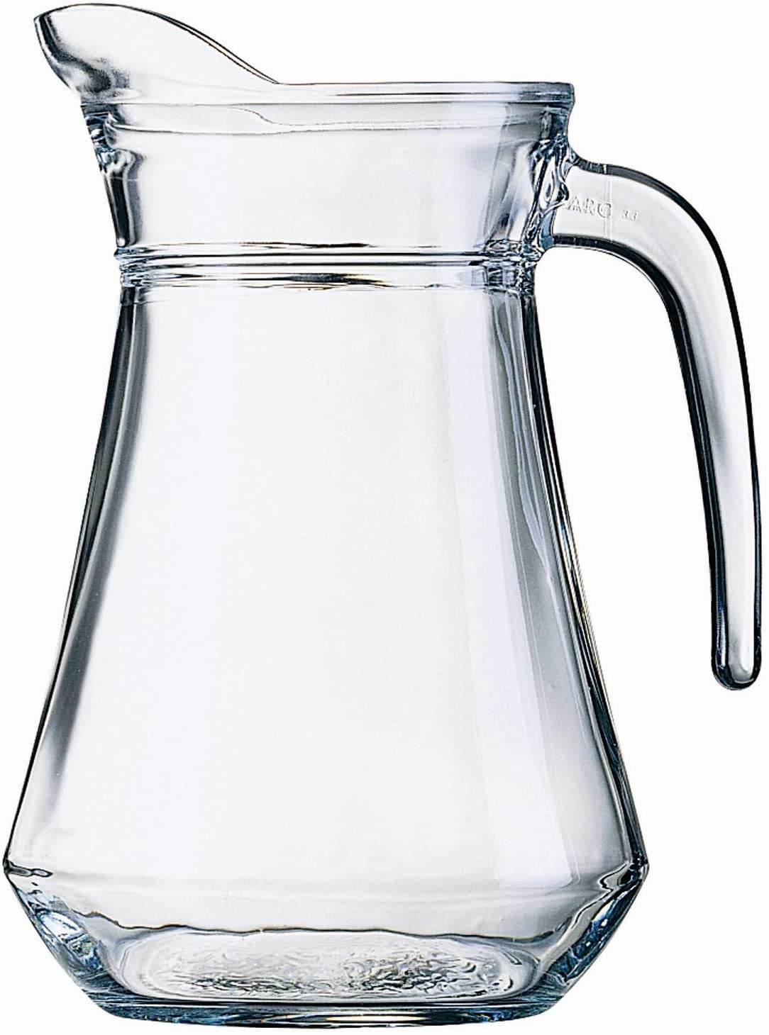 Quality Glass Pitcher With Lid And Handle - Elegant Jug Drink Ware - 1320 ml. For Cold Drinks - Water, Punch, Lemonade, Juice, Milk, Ice Coffee - 1.3ml. or 44 0z. (1)