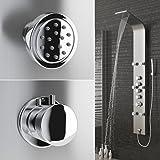 Edelstahl Duschpaneel Duschsäule Brausepaneel Thermostat Wasserfall Dusche