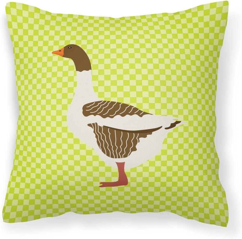 Caroline's Treasures BB7729PW1818 Pomeranian Rogener Goose Green Fabric Decorative Pillow, 18H x18W, Multicolor