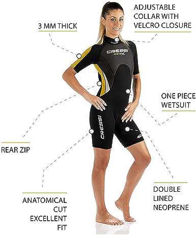 Cressi Med X Lady - Trajes Monoshort Neopreno 2.5mm Mujer: Amazon ...