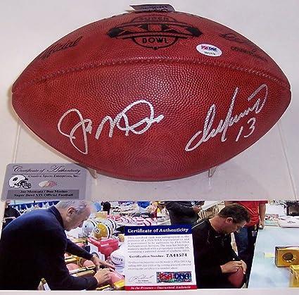 cheap for discount b4f04 8dcae Dan Marino & Joe Montana Autographed Hand Signed SB 19 XIX ...
