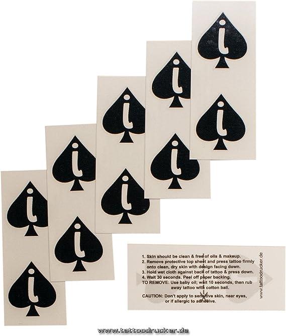 Tattoodrucker Mini Jack of Spades Logo como un Tatuaje en Negro ...