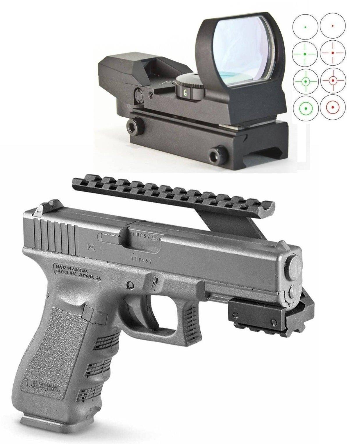 Ultimate Arms Gear Pistol Handgun Scope Mount Fits Sig Sauer 226 229 220 P250 Sig Pro Pistols + ''CQB'' Red-Green Reticle Dot Open Reflex Sight/Scope