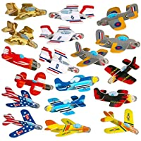 Neliblu Airplane Gliders for Kids Bulk Pack of 72 Individually Wrapped Flying Plane Toys - Lightweight Foam Air Planes W…