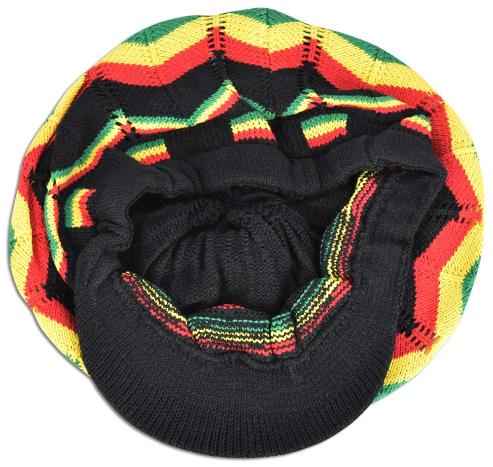 88b175494 Rasta Hat Jamaica Marley Reggae Cap Rastafari Dreadlocks Tam Roots Cotton  Africa