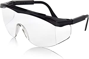Sunny Pro Protective Safety Glasses with Clear Lenses Splash Windproof Dustproof Goggles UV Protected Light Weight Wrap Around Glasses