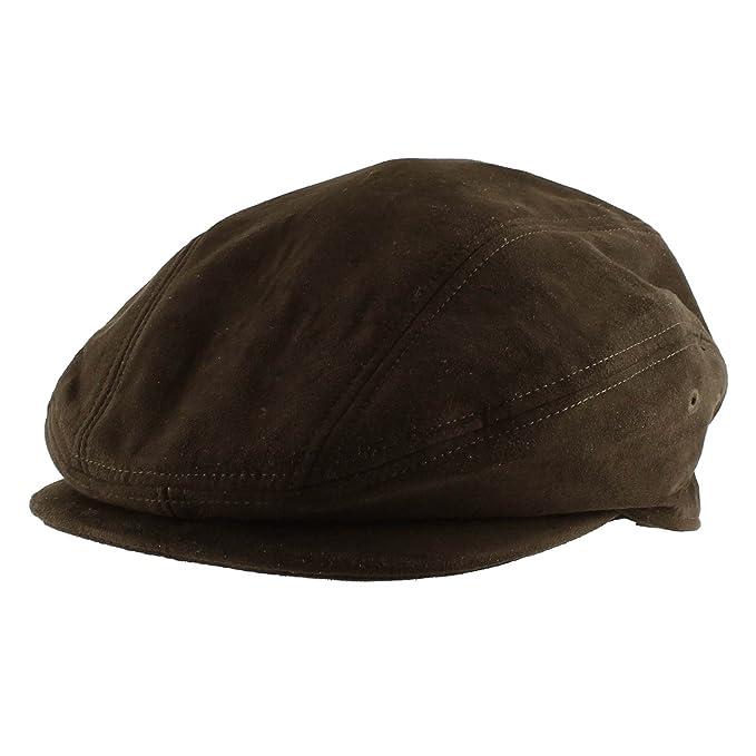 e7aa53d3b5280 Morehats Suede Warm Newsboy Cap Gatsby Golf Irish Hunting Hat - Chocolate  (M)