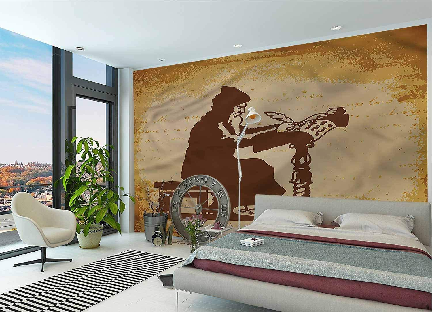 Amazon Com Lcggdb Medieval Wallpaper Mural Old Chronicle Of Events Peel Stick Wallpaper For Office Nursery School Family Decor Playroom Birthday Gift 96x66 Inch Posters Prints