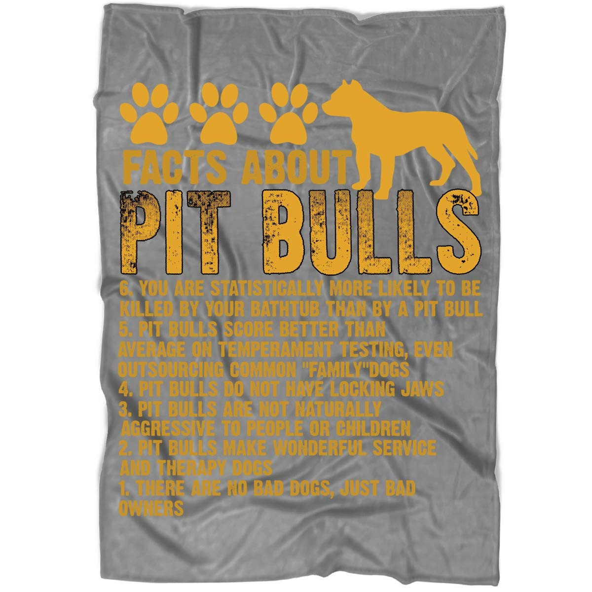 Fleece Blanket Dark Grey Medium Fleece Blanket (60\ Fleece Blanket Dark Grey Medium Fleece Blanket (60\ OAKSTORE Dog Mom Blanket Bed Couch, Facts About Pitbulls Blankets Perfect Layering Any Bed Provides Comfort Warmth Years (Medium Fleece Blanket (60 x50