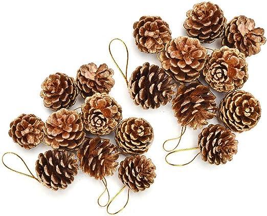 Decoraciones navideñas Conos de pino,18 piezas Conos de pino ...