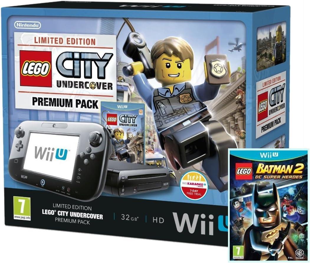 Nintendo Wii U 32gb Lego City Undercover Premium Pack Black With Lego Batman 2 Dc Superheroes Nintendo Wii U Amazon Co Uk Pc Video Games