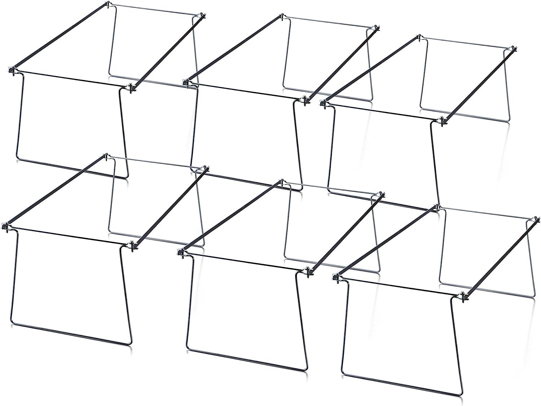 6 Pack Officemate Hanging File Frames Letter Size Steel 98620