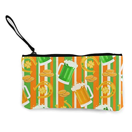 Tropical Flower And Palm Leaves Cute Buckle Coin Purses Buckle Buckle Change Purse Wallets