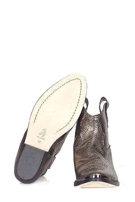 4772023abc2 G di G - Botas de Tobillo Mujer Oro GG6871  Amazon.es  Zapatos y  complementos