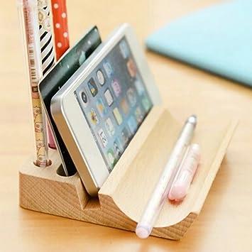 Uooom Holz Multifunktions Schreibtisch Organizer Handy