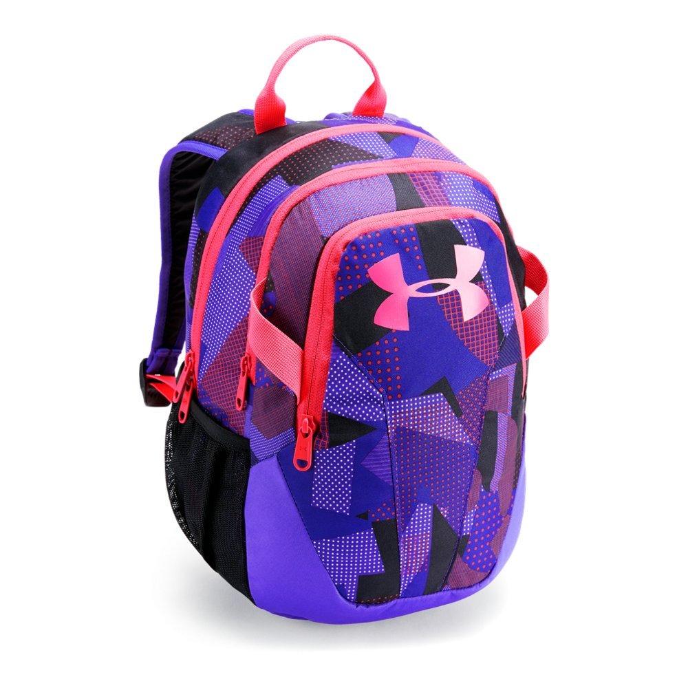 Under Armour Unisex Kids' Medium Fry Backpack, White (101)/Penta Pink, One Size