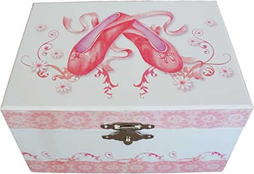 Caja de música y joyero de Mele & Co, diseño de Bailarina con Zapatos de Ballet: Amazon.es: Hogar