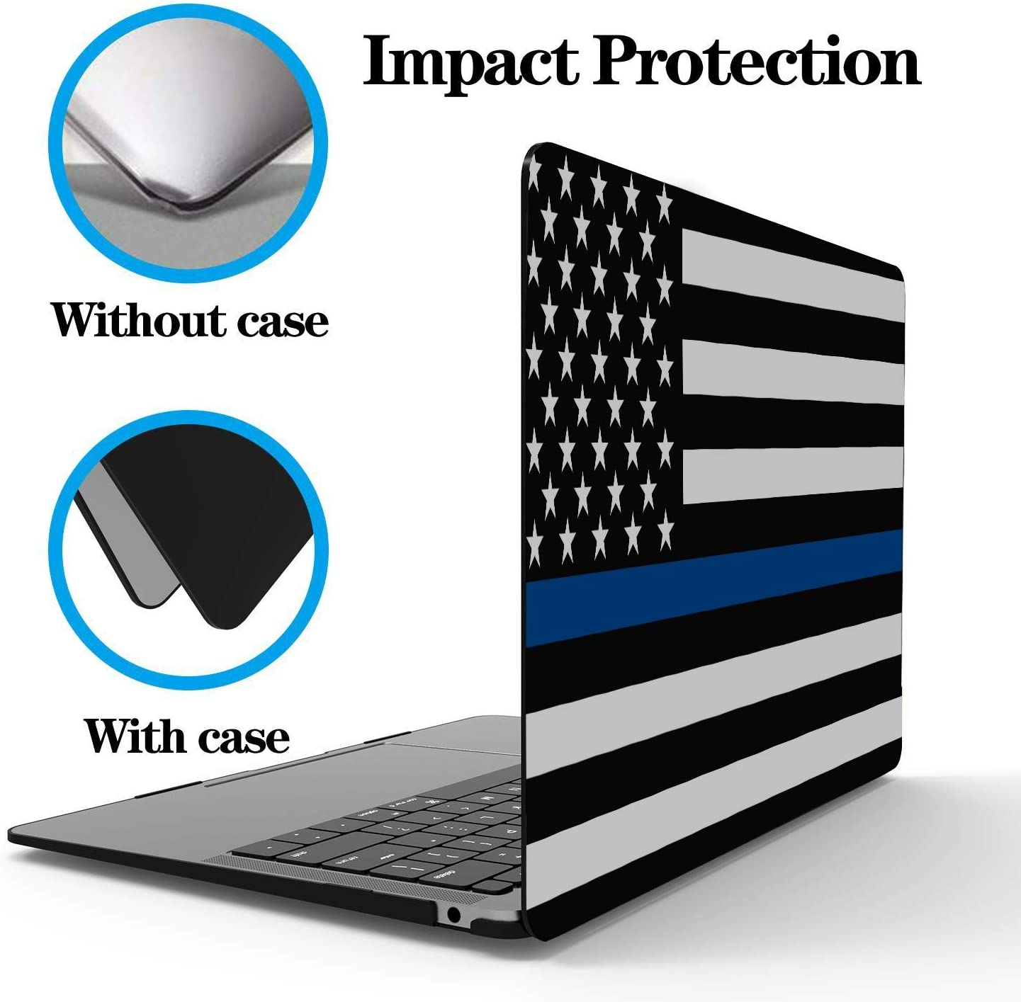 Used to Decorate and Protect Laptop.Air13 N//D American Flag Laptop Shell,Made of PVC Material