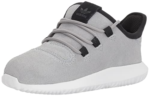 pretty nice ea781 40621 adidas Originals Boys  Tubular Shadow I Running Shoe Mid Grey White Black  9.5