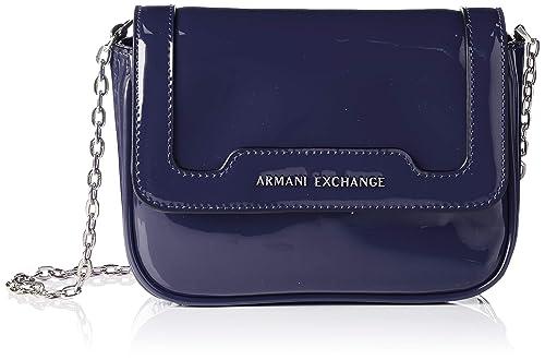 Armani Exchange - Crossbody Bag Colorful, Shoppers y bolsos de hombro Mujer, Azul (