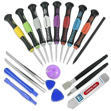 MMOBIEL 20 en 1 Kit de Herramientas de Reparación Profesional y Set de Destornilladores para teléfonos