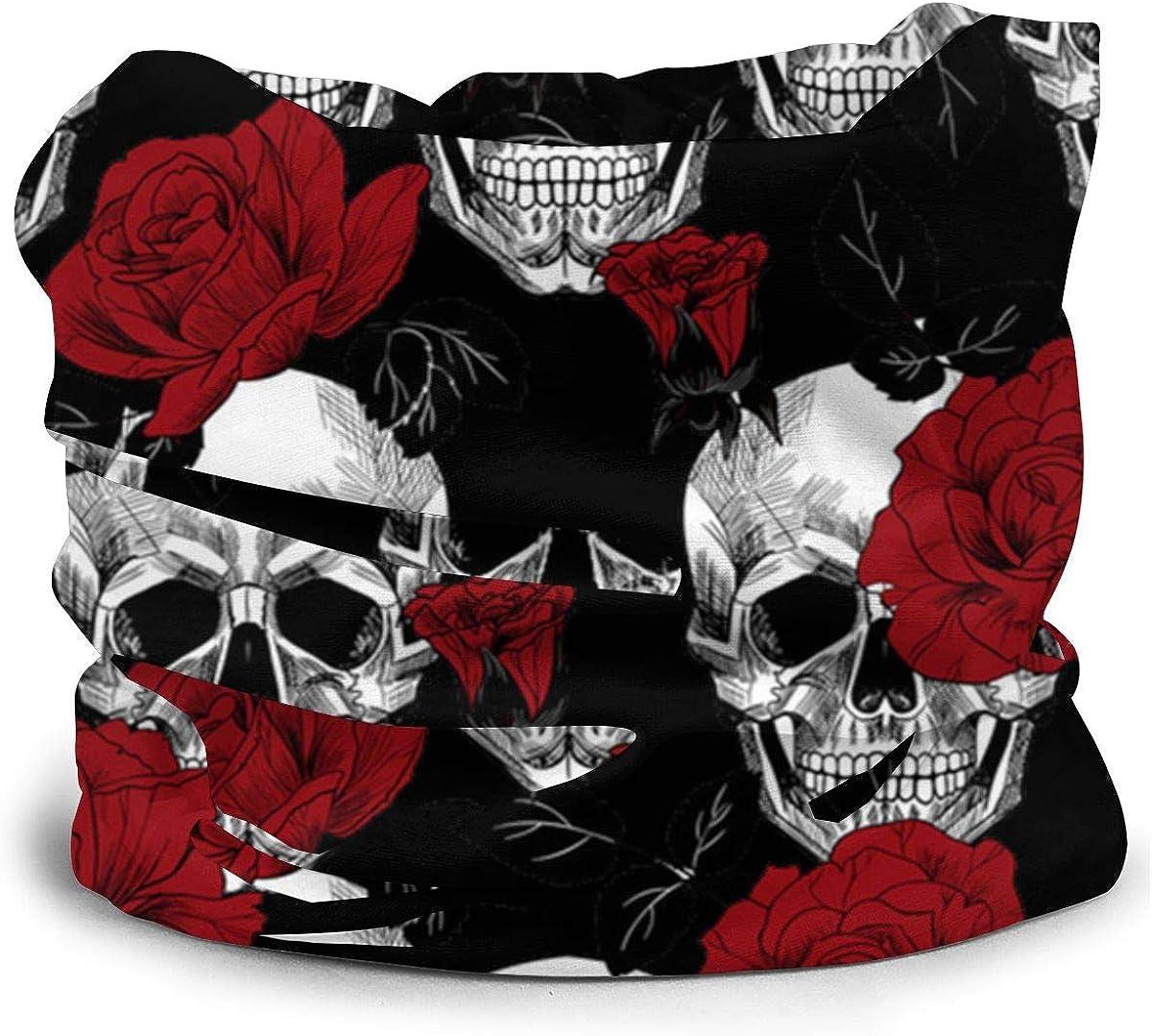 Multifunctional Headband Scarf Neck Gaiter Balaclava Dead Sugar Skull Men /& Women Face Cover Bandana