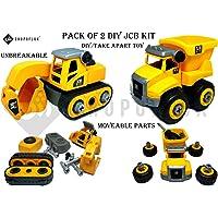 Shopoflux® Unbreakable & Moveable Part Dustbin Truck Toy Vehicle, DIY & Tack Apart Toys for Children (Dustbin Truck)