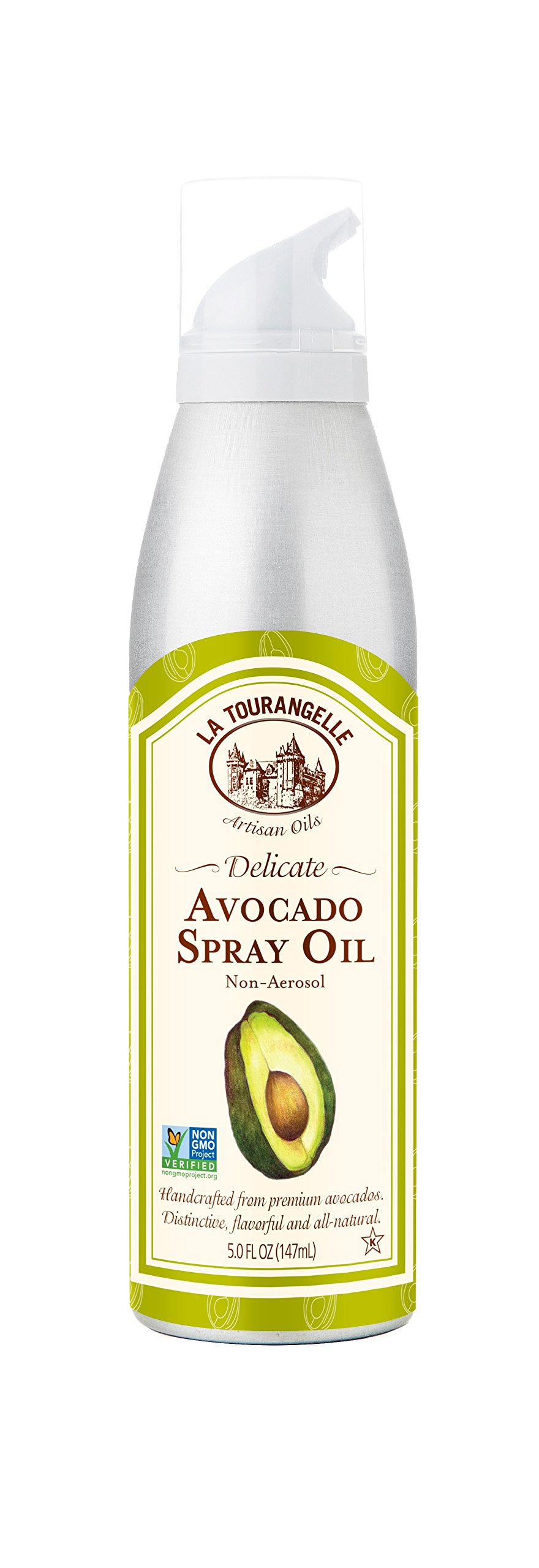 La Tourangelle Avocado Oil Spray 5 Fl. Oz, All-Natural, Artisanal, Great for Salads, Fruit, Fish or Vegetables, Great Buttery Flavor