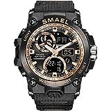 Relojes para Hombre Militar Sport Sport Watch 50m Relojes De Pulsera Impermeables (BlackRoseGold)