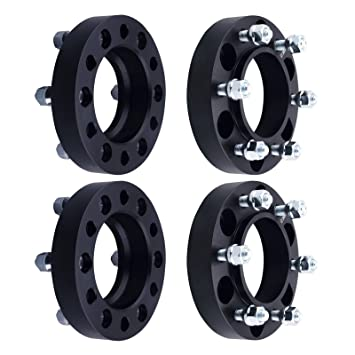 "4Pcs 2/"" 6x135 14x2 Black Hub Centric Wheel Spacers  For 2004-2014 Ford F-150"