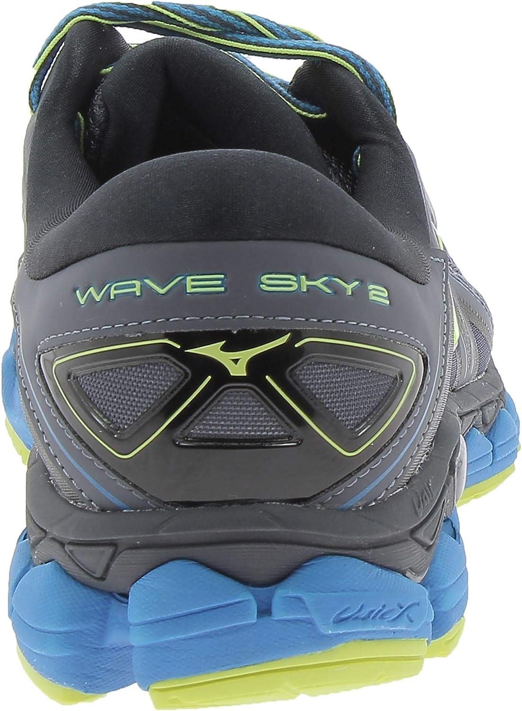 Mizuno Wave Sky 2, Sneakers Basses Homme Multicolore O Blue Yellow Black 001