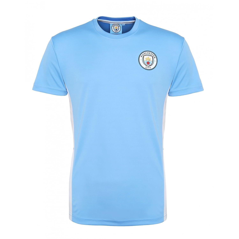 sale retailer cad64 d45ee Official Football Merchandise Unisex Manchester City FC Short Sleeve T-Shirt