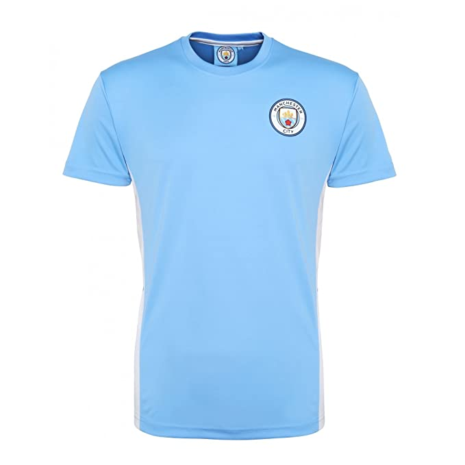 Manchester City FC Official Football Merchandise Unisex Short Sleeve T-Shirt  (M) ( 5bf2a1780672