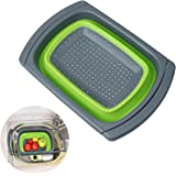 Qooltek Colander Collapsible Over the Sink Kitchen Vegetable/Fruit Folding Strainer Space-Saver with Extendable Handles