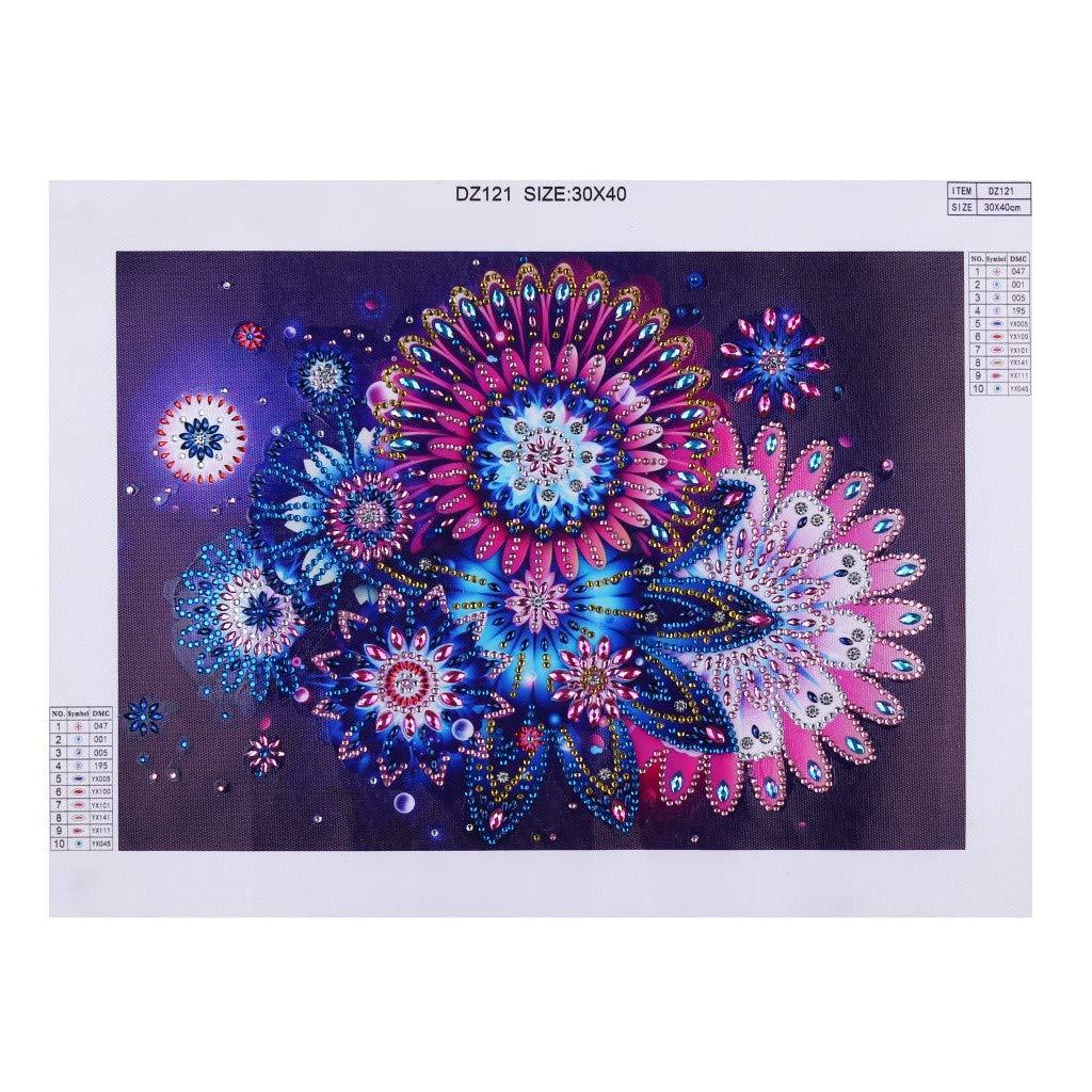 trada spécial en Forme de Diamant Peinture Bricolage 5D variété de tirages Exotiques partielle Drill Cross Stitch Cross Kits Crystal R