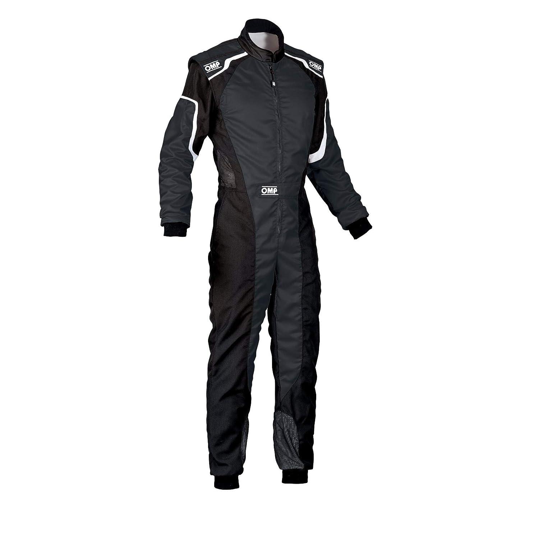 [正規品]OMP KS-3 SUIT 2019 ブラック/ホワイト 46サイズ CIK-FIA LEVEL-2公認 レーシングスーツ B07S9B44VP
