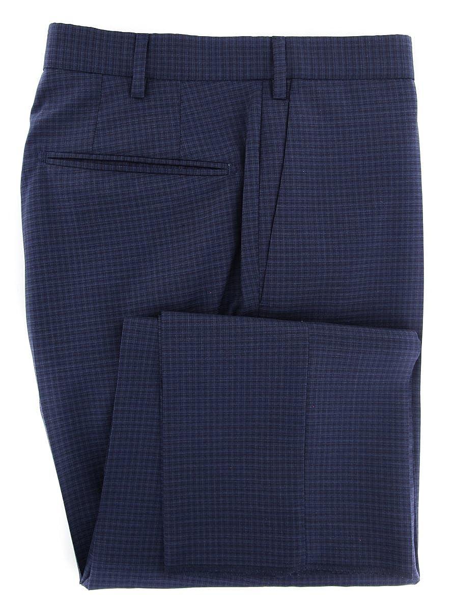 Slim Incotex Dark Blue Micro-Check Pants