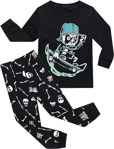 Boys /& Girls Christmas Pajamas 100/% Cotton Size 2T 16 Unisex Toddler Kids Santa Reindeer Penguin PJS Set