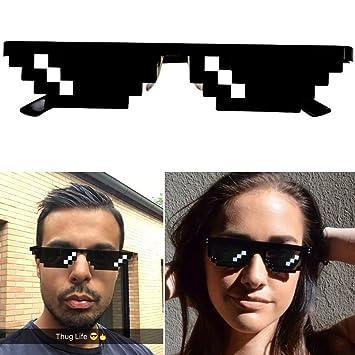 THUG LIFE Gafas Pixel ideal para Soirées y Déguisements ...