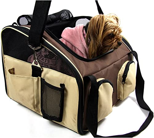 Heartland Pet Products Large Soft Sided Dog Car Seat Carrier 16.5 x 14.5 x 14 Lifetime Full Replacement Warranty