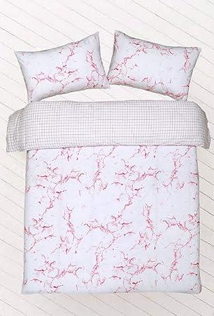 Linensrange Marmor Rosa Steppdecke Bezug 50 Polyester 50 Baumwolle