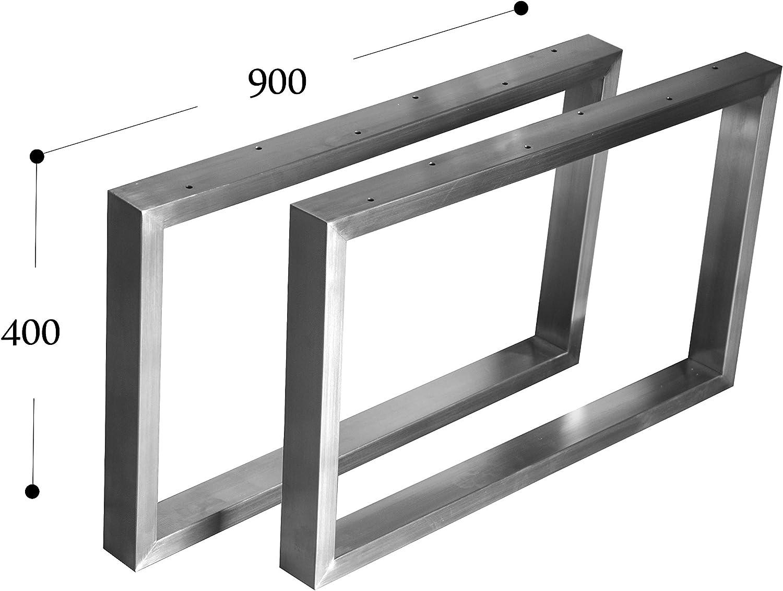 400x300 mm - 1 Paar CHYRKA Couchtisch Kufengestell Tischgestell Edelstahl 201 40x20 Rahmentisch Tischkufe Tischuntergestell